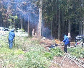 竹炭作り1