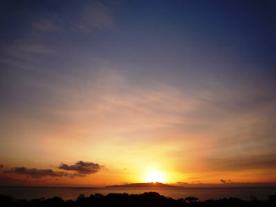 屋上から見た日の出