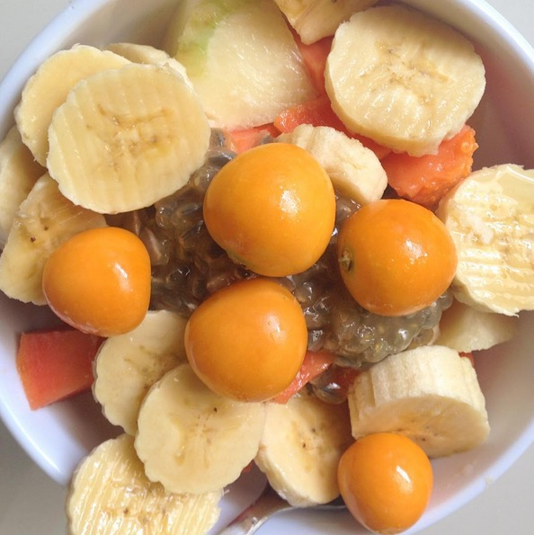 Uchuva tropical fruit salad