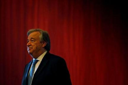 U.N. Secretary General-designate Antonio Guterres looks on during the Vision Europe Summit, at the Calouste Gulbenkian Foundation in Lisbon