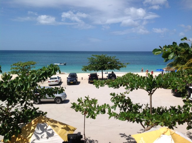 Lunch on Grand Anse Beach