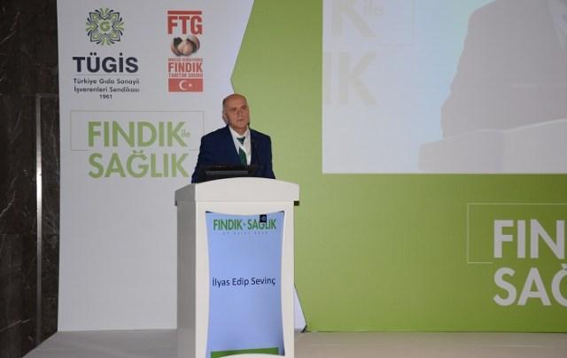 """FTG Başkanı Sevinç: """"Türkiye ilk defa 2012 yılında 301 bin ton iç fındık ihraç etti. Bu 600 bin ton kabuklu fındığa tekabül ediyor. Biz biliyoruz ki daha fazla fındık olsaydı daha fazla satış yapmak mümkündü."""""""