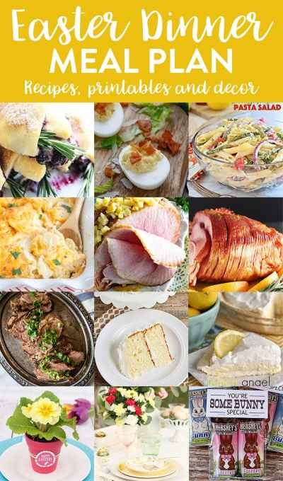 Easter Dinner Menu and Meal Plan - we've done the work for you!