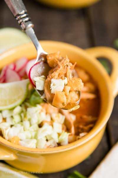 Pozole Rojo with Chicken | Quick & Easy 30 Minute Recipe