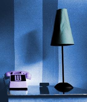 purple telephone