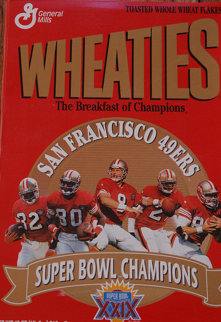 49ers Wheaties Cereal Box - Super Bowl XXIX
