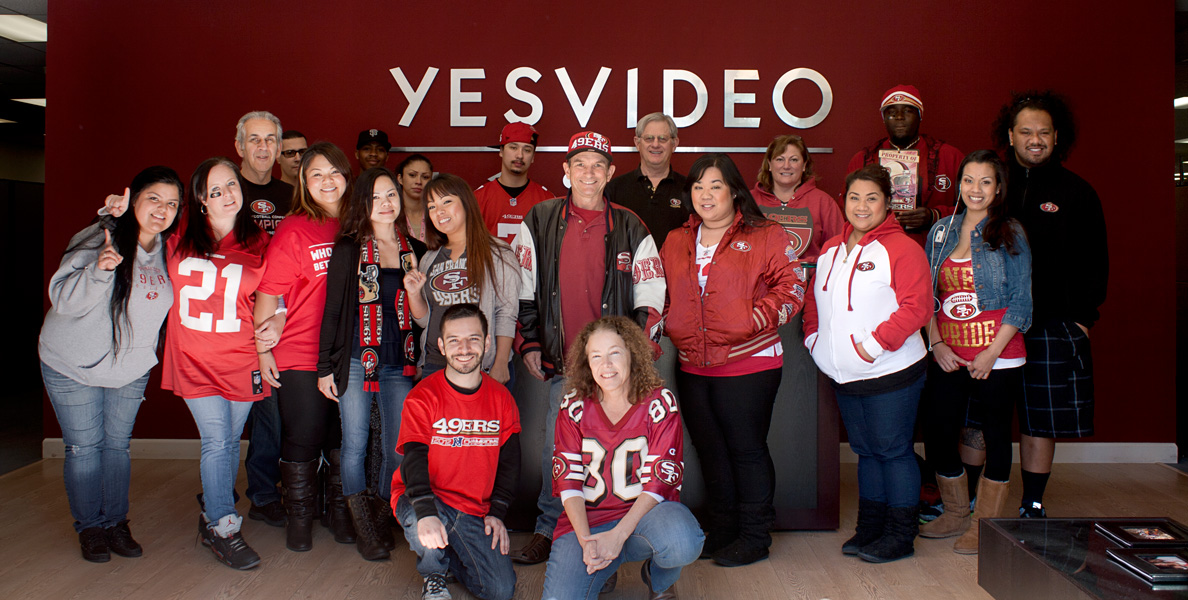 YesVideo 49ers Pride Group Photo