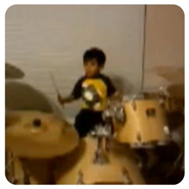 Drum Practice Snapshot taken with the YesVideo iPad app.