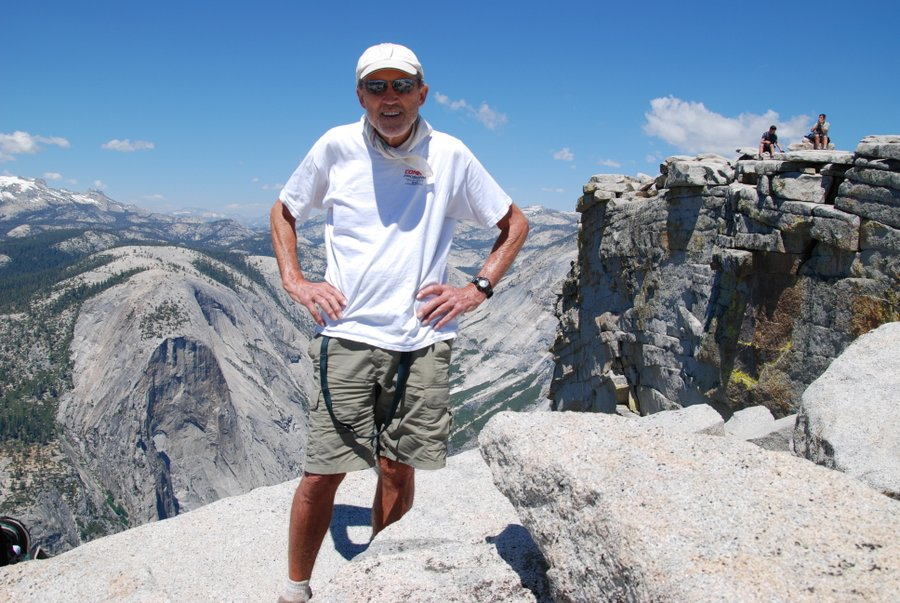 #63 On Top of Half Dome at 70 Years Old