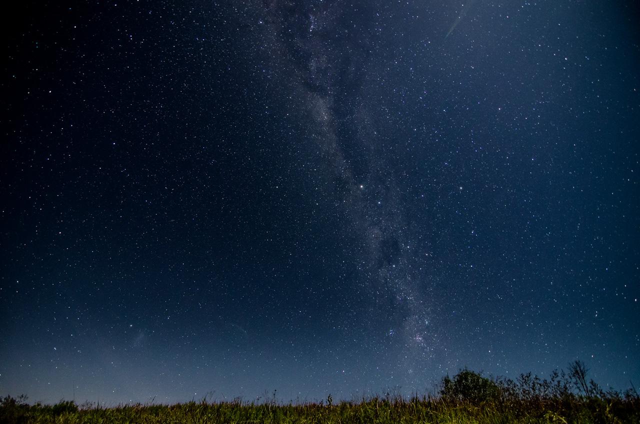 En una visita a los arroyos de la Reserva Morombí durante la noche nos encontramos con un cielo estrellado y tuvimos tiempo de fotografiarlo antes de que la luna lo invada con su brillo. (Elton Núñez)