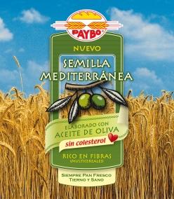 "Diseño de la bolsa de pan de molde ""Semilla Mediterránea"" de Paybo"