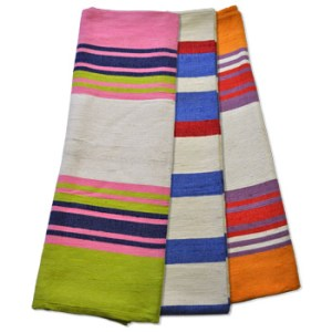 handwoven cotton yoga blanket