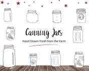 Hand Drawn Canning Jars