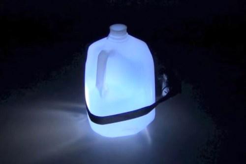 kafa lambası, şişe
