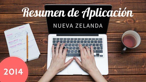 resumen aplicacion visa nueva zelanda working holiday 2014