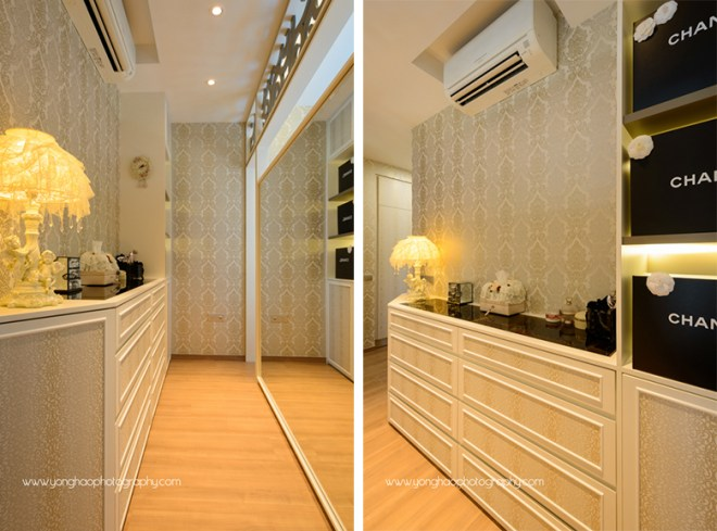 yonghao photography, interior photography, magazine, dressing space, blossom residences, bedroom
