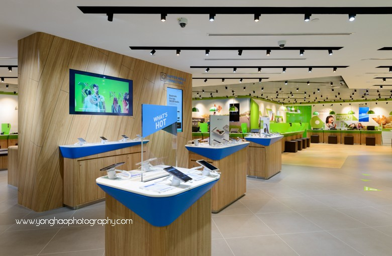 Interior Photography of Plaza Singapura Starhub for Crown Construction