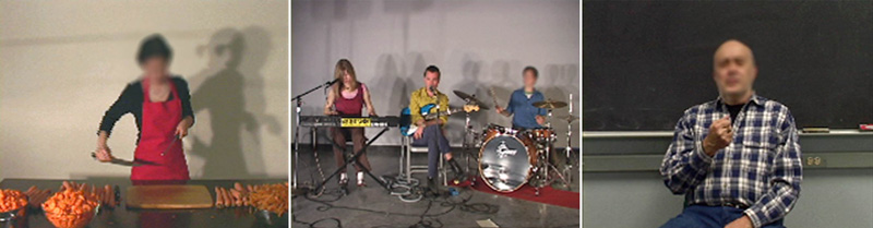 video still from the Blurring Performers