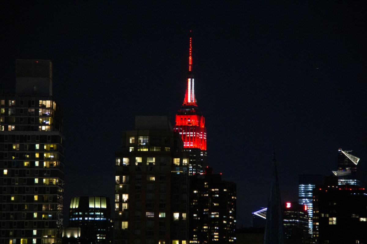 Covid-19, Covid19 NYC, Empire State Building