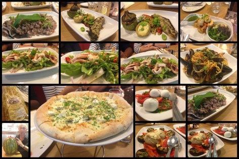 Array of dishes at Salvo's Leeds