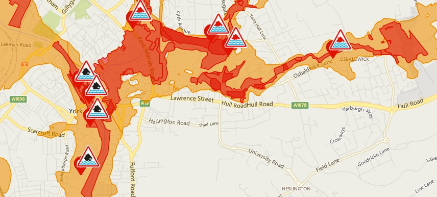severe flood warnings in place for yorks student housing nouse