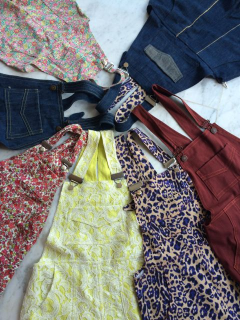 #aweekofturias Charity Sewing Challenge finished! Seven pairs of Turia dungarees - one for every day of the week!