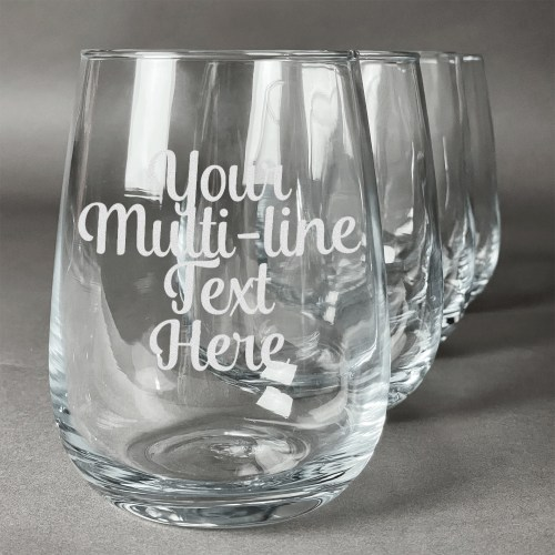 Medium Of Personalized Stemless Wine Glasses