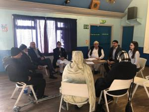 The Armley Mosque group during a thought-provoking meditation session