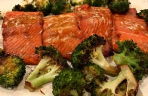 Your Family RD's Tuesday Tip- Salmon and Broccoli Sheet Pan Dinner