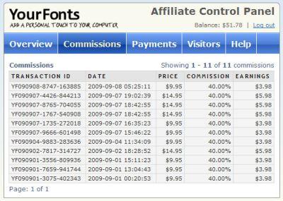 YourFonts - Affiliate Program