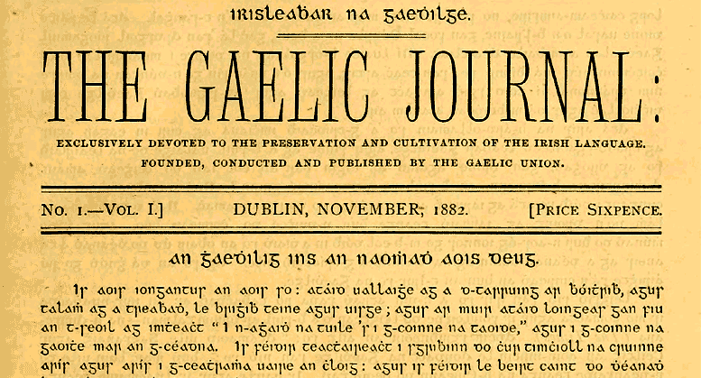 The Forming of the Gaelic League