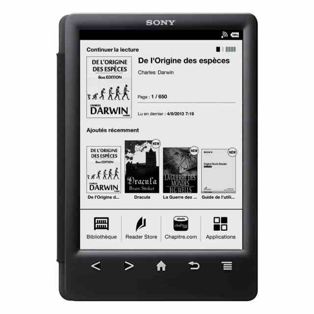sony-reader-prs-t3-Front_view_fold_back_T3_Black_with_French_home_screen
