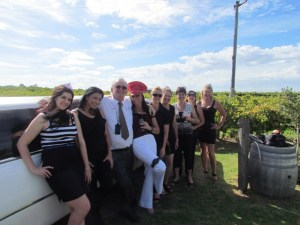 Tom with a hen party in the Swan Valley