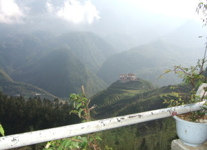 View from a cafe in Sapa