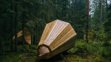 Massive timber megaphones