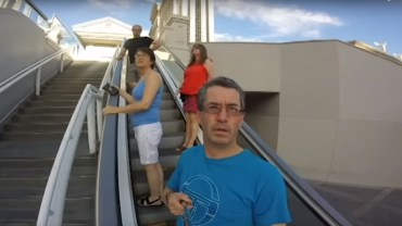 Dad points GoPro the wrong way in Vegas