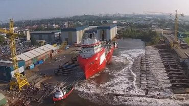 Witness huge ship launches compilation