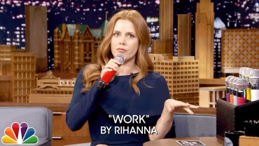 Microphone fun with Amy Adams
