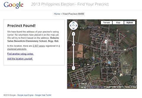 google find your precinct