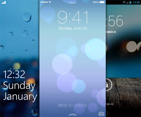 iOS 7 lockscreen