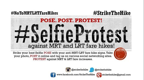 #selfieprotest