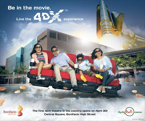 4DX cinema bonifacio high street philippines