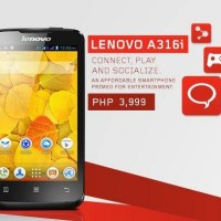 Lenovo A316i lands locally, priced at Php3,999