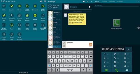 Galaxy Tab S 8.4 UI