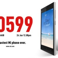 Complete details of the Xiaomi Mi 3 Sale on June 26