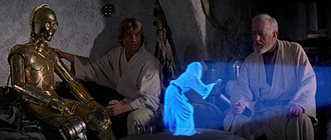 """Help me, Obi-Wan Kenobi. You're my only hope."""