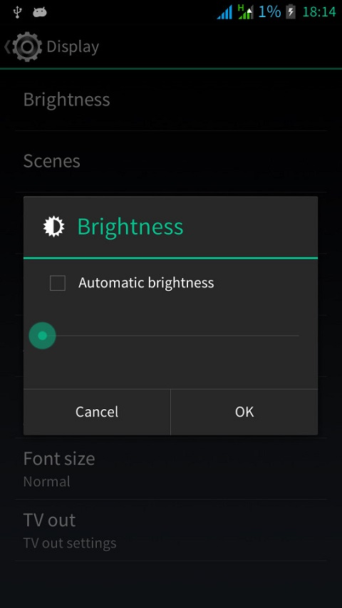brightness android