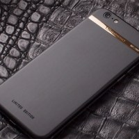 iPhone 6 by Gresso is cased in titanium & 18K gold
