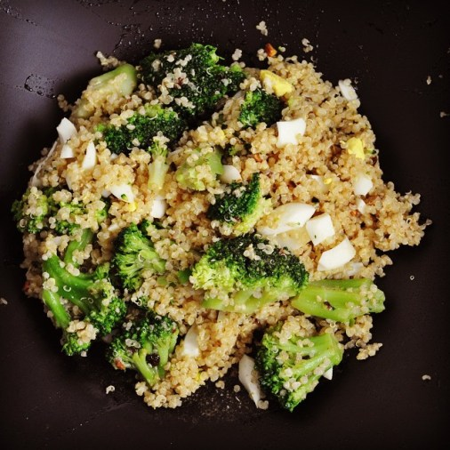 Sneak peek to an upcoming post- stir fried broccoli and quinoa!! It is super delicious