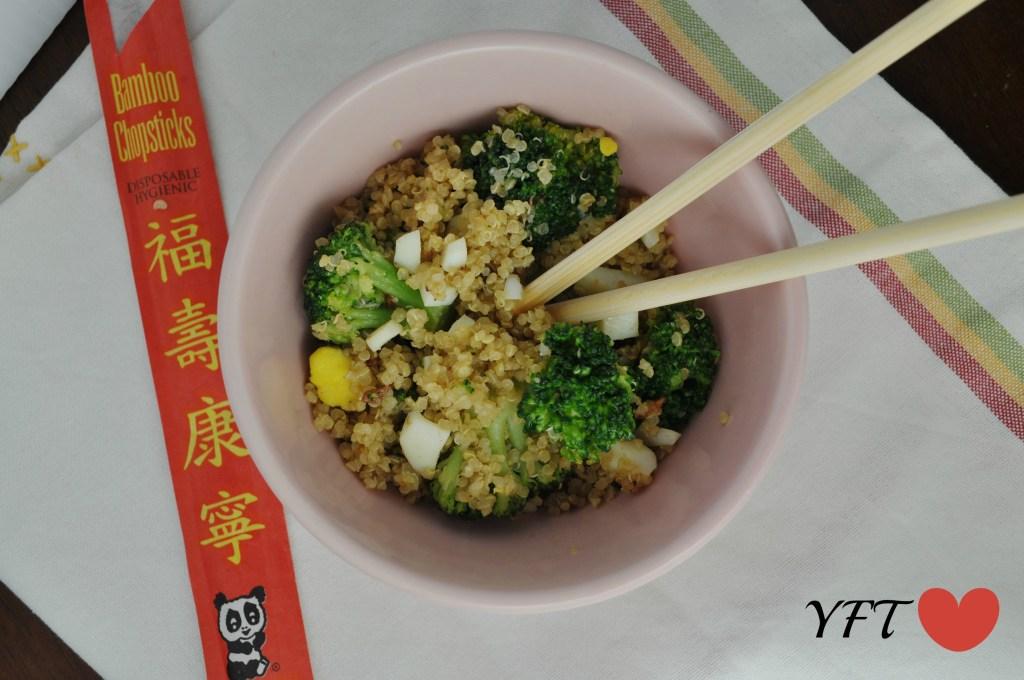 Wok Tossed Broccoli and Quinoa